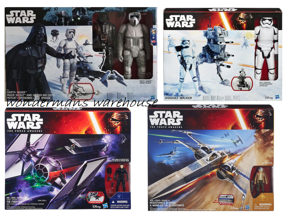 Star Wars Vehicle and Action Figure Sets -By Hasbro -Brand New & Boxed