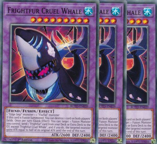 TCGAtzenJens ROTD-EN039 3x Frightfur Cruel Whale YuGiOh