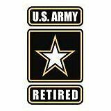 "3.25/"" x 5.5/"" Retired Army Sticker Die Cut Decal Self Adhesive Vinyl Ranger"