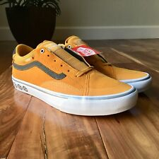 NEW Vans TNT SG Pewter Sunflower Gray Yellow Skate Shoes