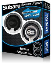 Subaru Impreza Front Door Speakers Fli car speakers + speaker adapter pods 180W