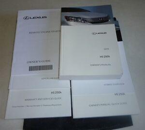 2010 lexus hs250h owners manual