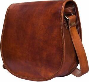 Unisex New Vintage Real Pure Leather Handmade Shoulder Satchel Messenger Bag