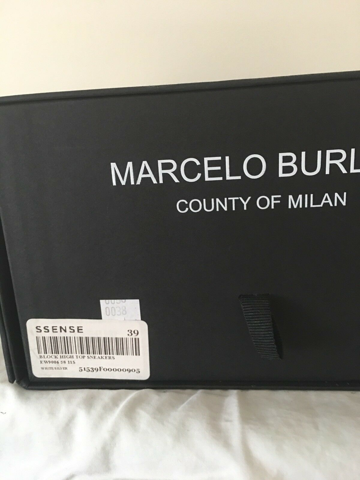 "NIB MARCELO MARCELO MARCELO BRULON ""BLOCK"" SILVER HIGHTOP Sneakers sz 39. RARE FIND. 64b1e5"