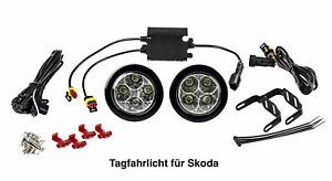 LED Tagfahrlicht 8 SMD rund Ø70-90mm E-Prüfzeichen R87 6000K E4 S1