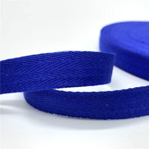 Cotton Ribbon Hserring Bone Handmade Ribbon Wedding 5yards//Lot 10mm//20mm 100/%