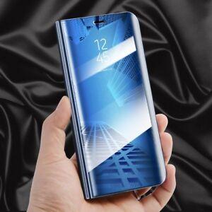 Fuer-Huawei-Honor-10-Clear-View-Smart-Cover-Blau-Tasche-Wake-Case-UP-Etui-Schutz