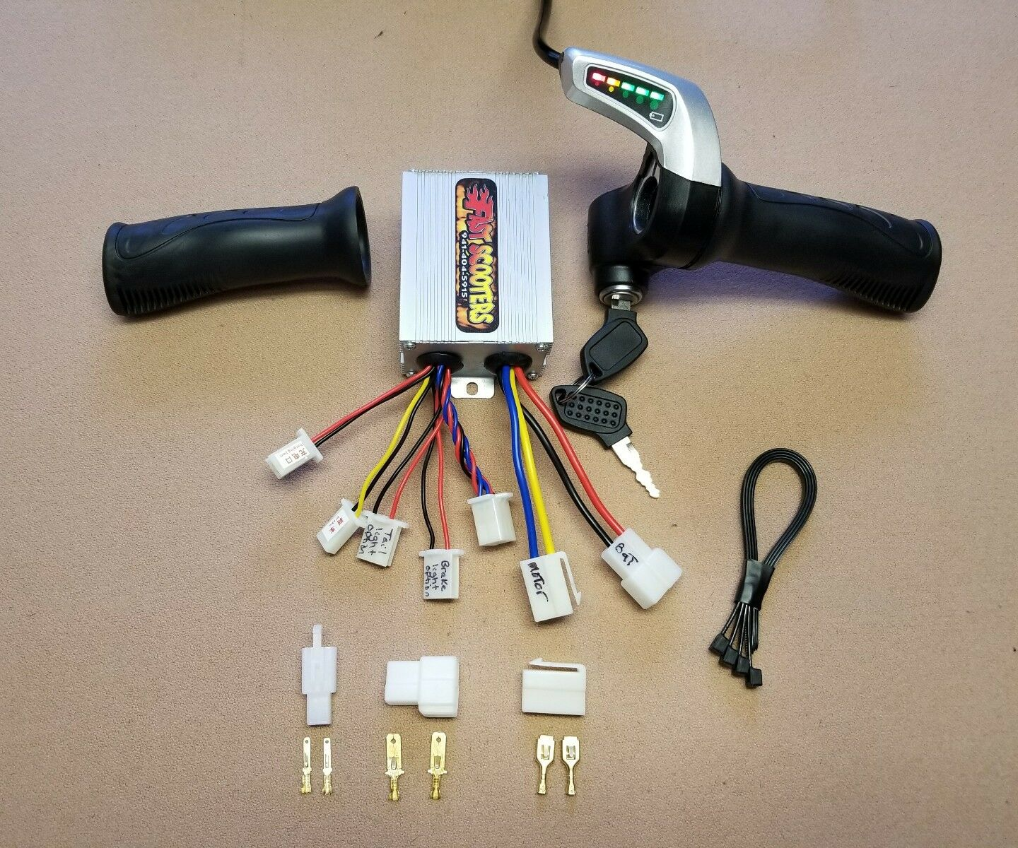 24V - 500 Watt Controller and thredtle with key (Brushed Motor) Ebike Scooter