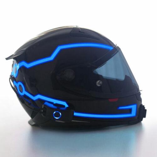 Motorcycle Helmet Night Riding LED Light Strip Signal Flashing Stripe Sticker