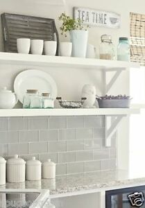 new york gloss pale grey flat metro victorian brick kitchen wall tiles 10