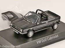 1981 VOLKSWAGEN GOLF Mk1 CABRIOLET in Black - 1/43 scale model NOREV