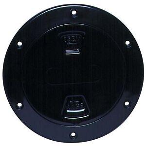 "Beckson DP40-B Smooth Screw-Out Marine Deck Plate Black/Black 4"""