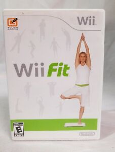 Wii Fit Game (Nintendo Wii, 2008) Game Disc with manual Good Condition No Board