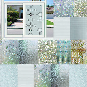3D-Static-Cling-Cover-Frosted-Window-Glass-Film-Sticker-Privacy-Home-DIY-Decor