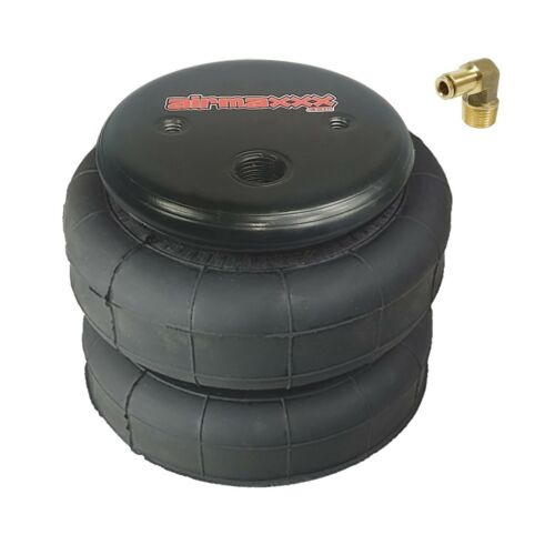 """1 air bag 2500 lb with 1//4/"""" hose elbow for truck tow kit air ride suspension"""