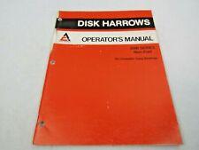 Allis Chalmers 2500 Series Non Fold Disk Harrows Operators Manual