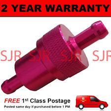 rosso 6mm Metallo Universale LINEA INGRESSO Filtro carburante anodizzato
