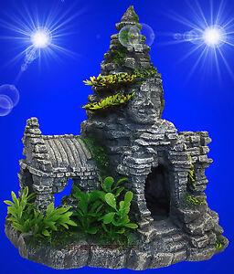 Aquarium Deko Tempel Haus Angkor Terrarium Dekoration Hohle Zubehor Fr Ebay