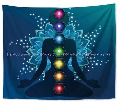 wall art decor healing chakras meditation yoga art wall tapestry