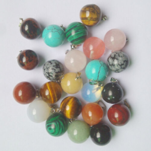 Mixed-Natural-Stone-Round-Ball-Bead-Pendants-Charms-50pcs-for-Jewelry-Making