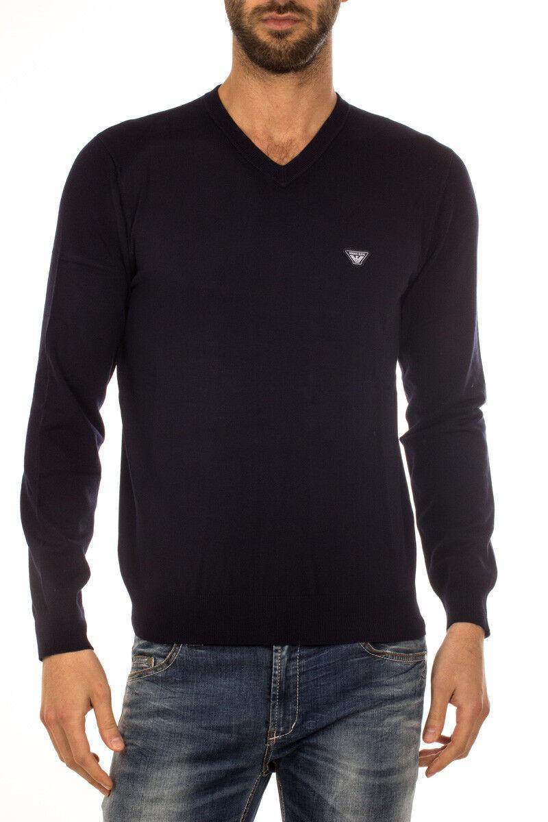 Maglia Maglietta Armani Jeans AJ Sweater Pullover P/E  Herren Blu 6X6MA46M0IZ 552