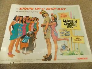 LT-ROBINSON-CRUSOE-r74-DICK-VAN-DYKE-ORIGINAL-1-2-SHEET-POSTER-22-034-BY28-034