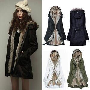 ee4c352f3 Lady Womens Thicken Warm Winter Coat Hood Parka Overcoat Long Jacket ...