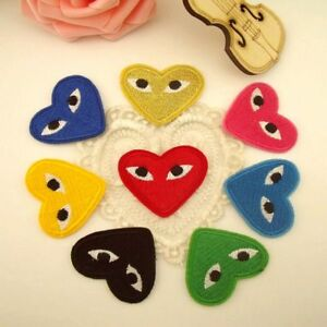 Embroidery-Comme-Des-Garcons-Sew-Iron-On-Patch-Badge-CDG-PLAY-Japan-Love-Heart