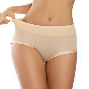 Wetopqueen Women Seamless Underwear Breathable Soft Cotton Panties Hipster Stretch Low Waist Briefs