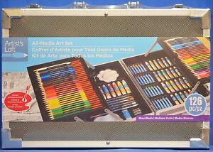 NEW Artistic Loft All-Media Art Paint Set 126 Pcs In Aluminum Carry Case 126391