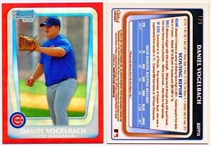 2011-Bowman-Chrome-Red-Refractor-DANIEL-VOGELBACH-1-5-HOT
