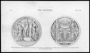 1874-Antique-Print-ROYALTY-MEDAL-CITY-LONDON-THANKSGIVING-PRINCE-WALES-067