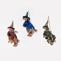 Em0982 11 Witch Gypsy In Sandals Hat Cape Halloween Ornament Decoration Fun