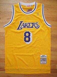 0e6c379864f Image is loading Kobe-Bryant-8-LA-Lakers-Throwback-Yellow-Mens-