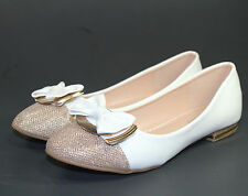 briana-09 Slip On Casual Party Ballet Flat Office Oxford Women Shoes White 8