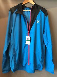 New-Men-039-s-Spyder-Alipne-Full-Zip-Hoody-Jacket-Blue-Black-size-Large-or-Medium-L