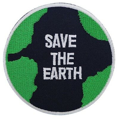 Earth Day Embroidered Iron On Patch 201 Earth Planet World