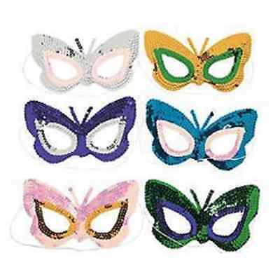 Sequin Butterfly masquerade mask costume