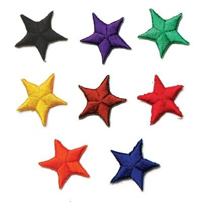 1 Set Star Embroidered Iron On Patches for Martial Arts Uniform-8 Colors Set