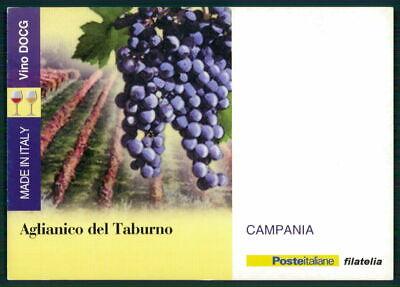 """Süß GehäRtet Italien Werbekarte """"made In Italy"""" Weinanbau Wein Wine Trauben Campania Ed60"""