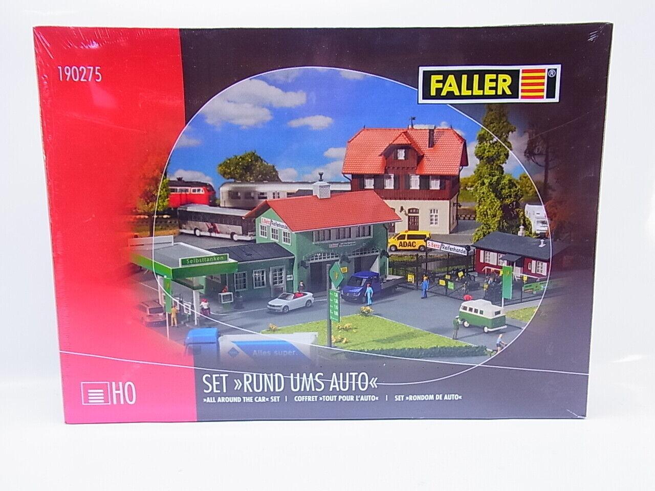 Faller H0 190275 Set Rund ums Auto Tankstelle Reifenhandel Werkstatt /_NEU