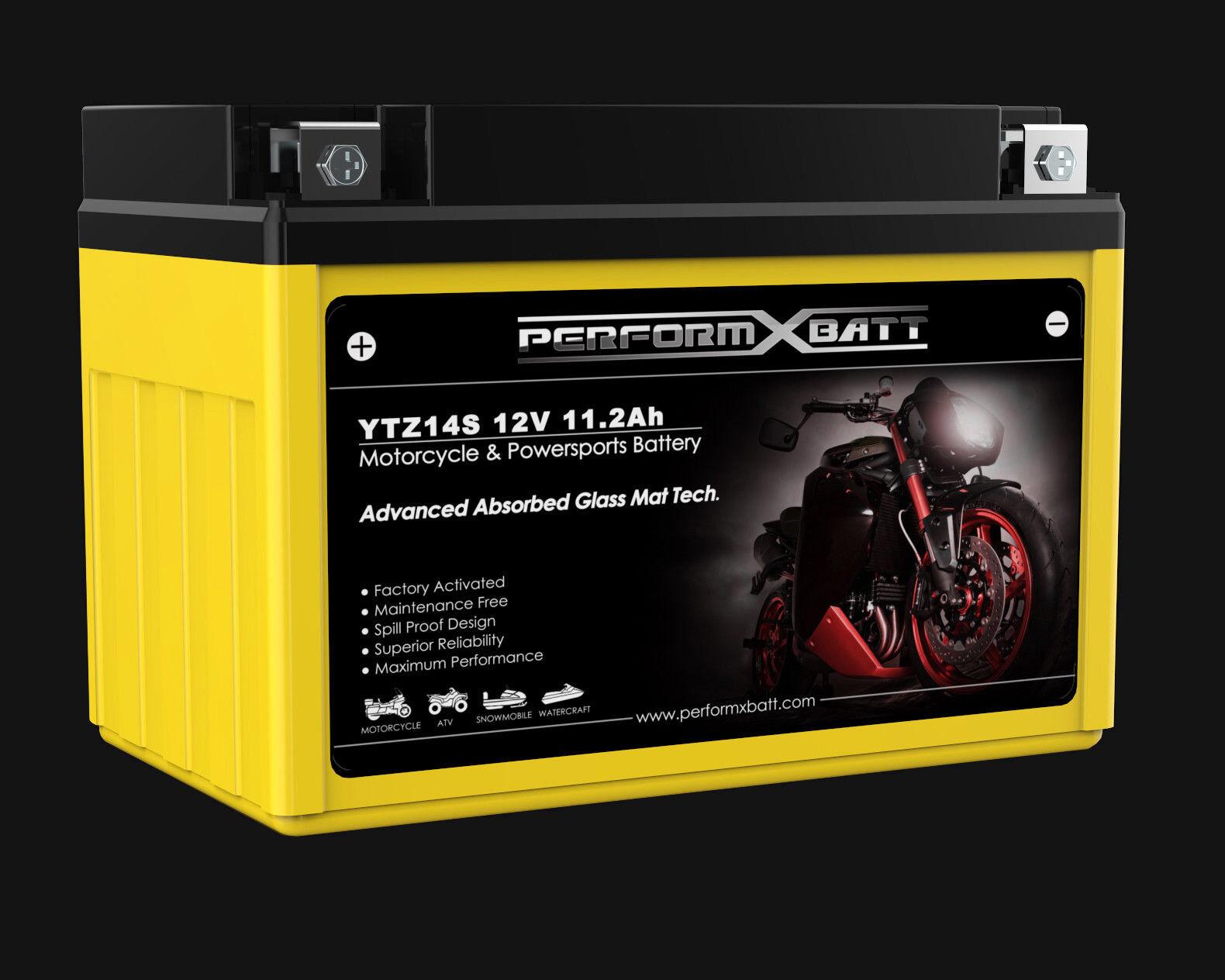 Agm Battery Ytz14s Yt12a Bs Kawasaki Ninja 650 R Er 6f Er 6n Ex650 Z1000 J300 600607125535 Ebay
