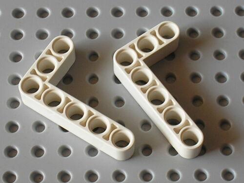 LEGO Technic 2 white Beam 3 x 5 Bent 90 ref 32526 Set 8386 41999 42025 42000..