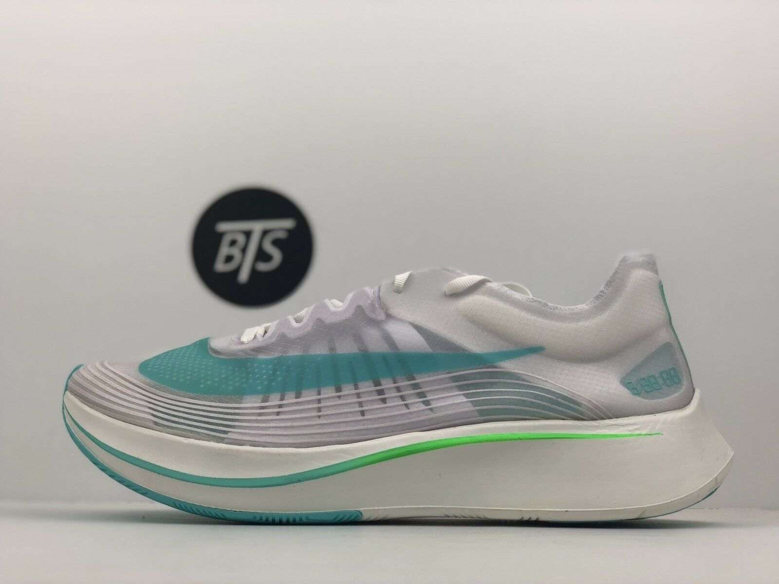 "Men's Nike Zoom Fly SP ""Rage Green"" Size-11 White Blue Green (AJ9282 103)"