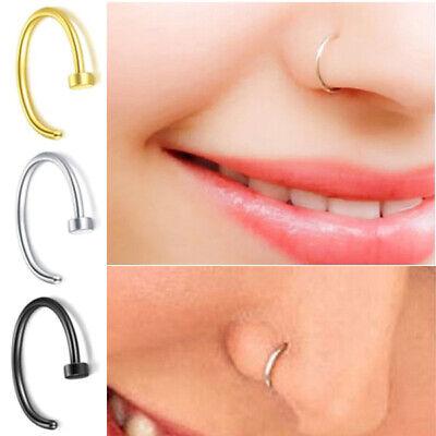 Nasenpiercing Nasenring Fake Nose Hoop Schmuck Klemm Piercing Hufeisen Ring