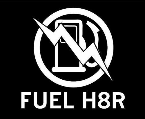 Electric Car Fuel H8R No Gas Custom Vinyl JDM Decal Sticker