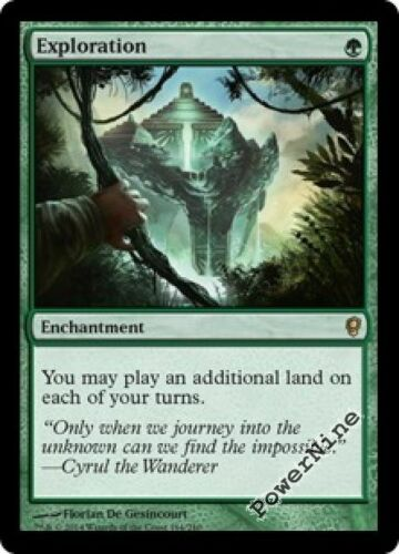 1 FOIL Exploration Green Conspiracy Mtg Magic Rare 1x x1