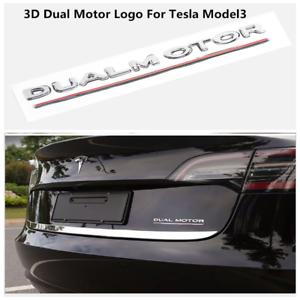 Model 3 Decals 3D Metal Car Rear Trunk Emblem Sticker Badge Decals for Tesla Model 3 Decorative Accessories