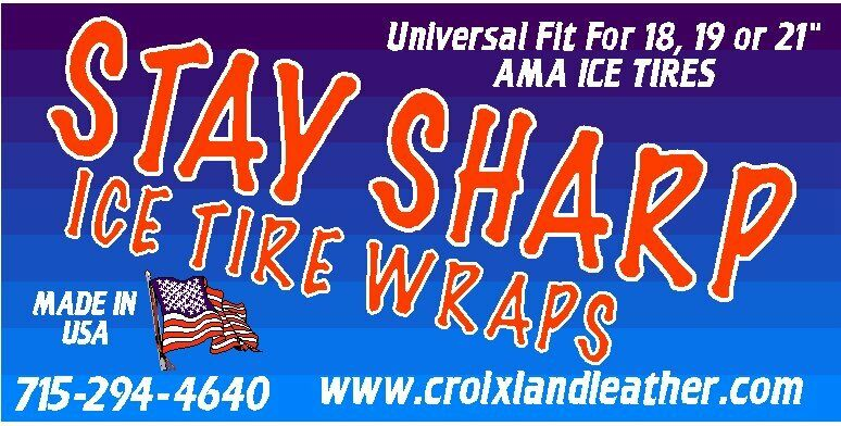 Stay Sharp Motorcycle Ice Tire Wraps--Pair  (These are the good ones)  honest service