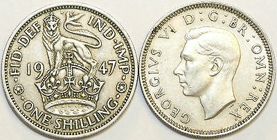 1947 to 1951 George VI Cupro-Nickel English Shilling Your Choice of Date